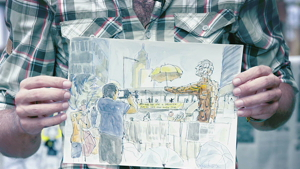 Umbrella Movement - Luís Simões x World Sketching Tour